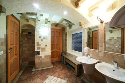 commercial bathroom remodel European style